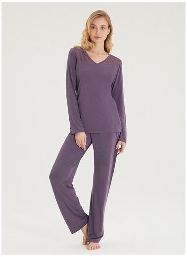 Blackspade Pijama Takım Mor